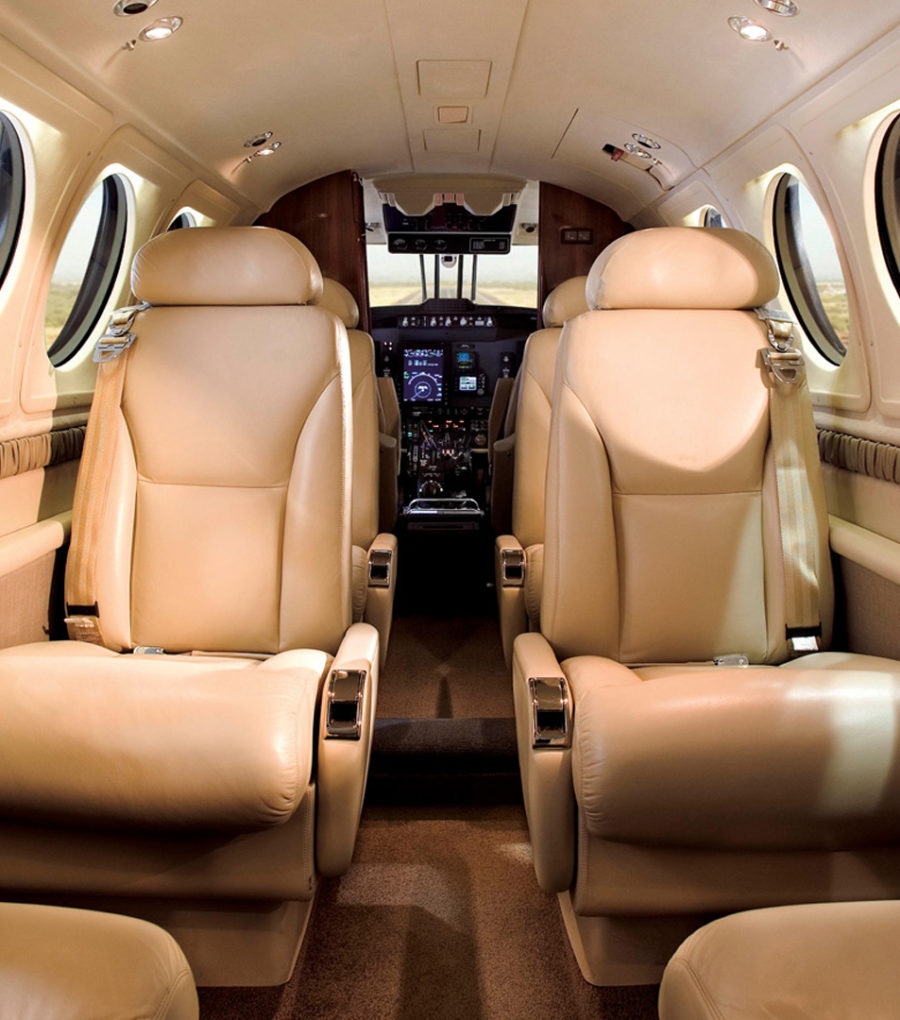 King-air-200-interior
