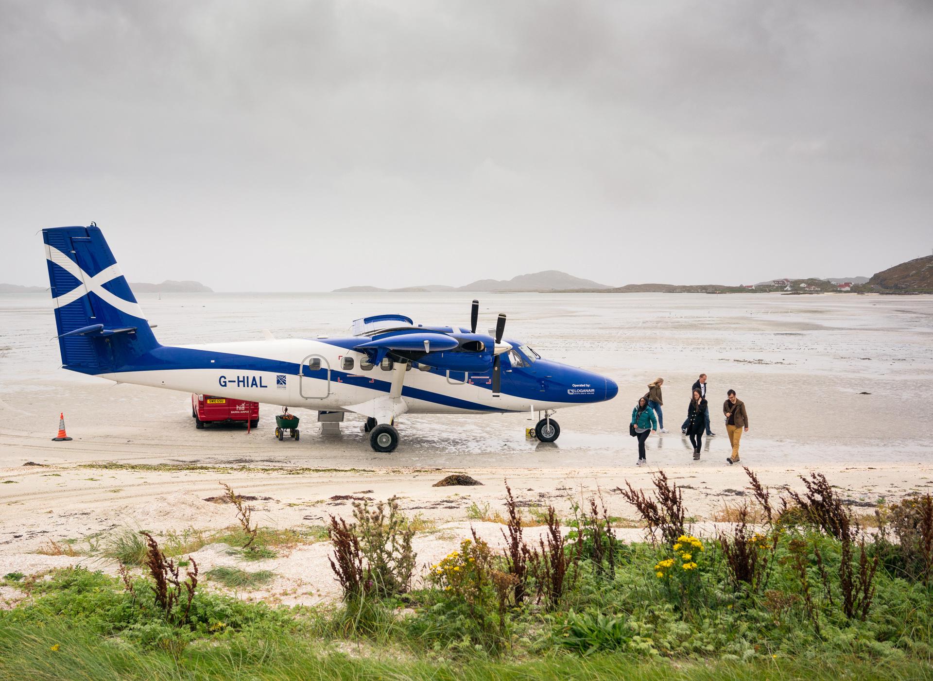 Island hopping flight arrival